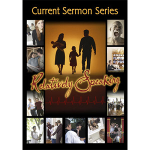Ad for current sermon series in church newsletter